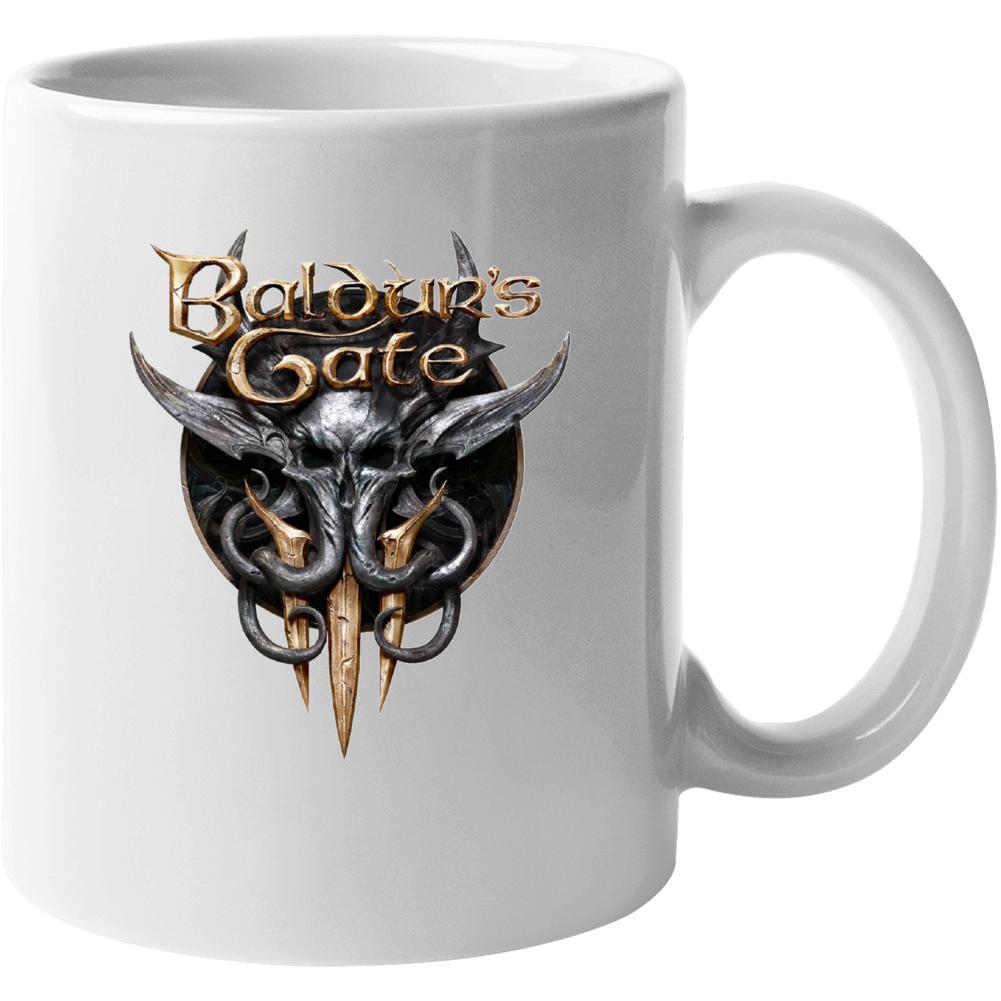 Baldurs Gate 3 Logo Rpg Video Game Dungeons Dragons Mug