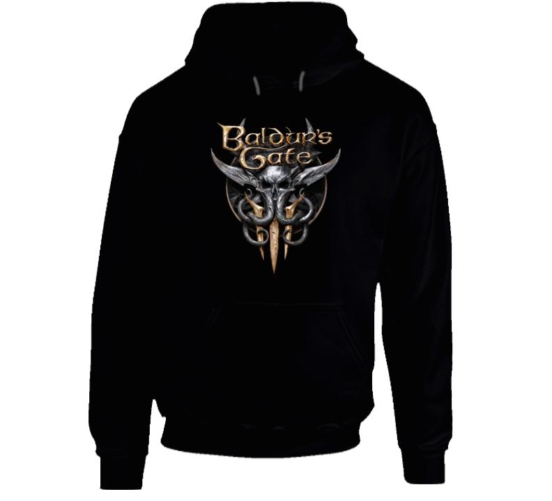 Baldurs Gate 3 Logo Rpg Video Game Dungeons Dragons Black Hoodie