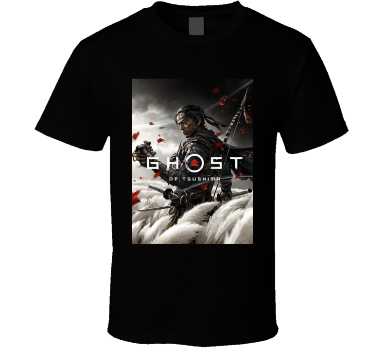 Ghost Of Tsushima Video Game Cover Art T Shirt