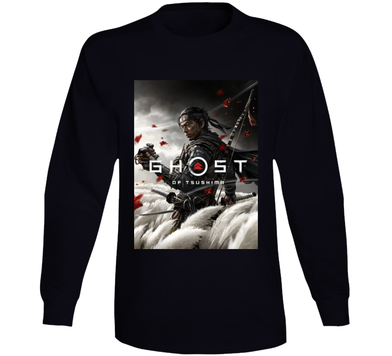 Ghost Of Tsushima Video Game Cover Art Long Sleeve T Shirt