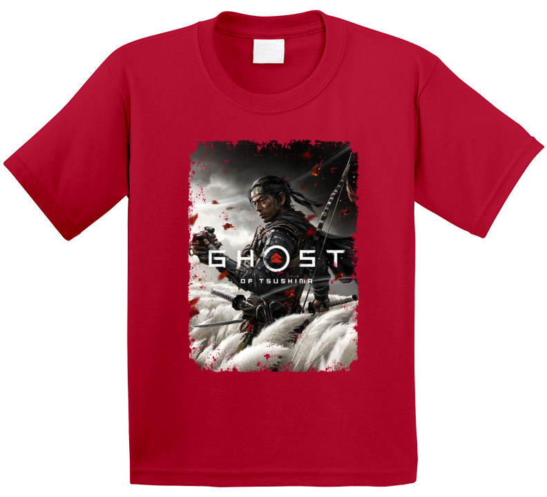 Ghost Of Tsushima Video Game Cover Art Aged T Shirt