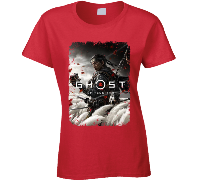 Ghost Of Tsushima Video Game Cover Art Aged Ladies T Shirt