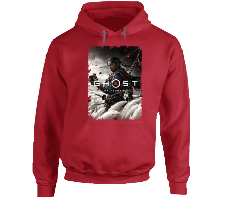 Ghost Of Tsushima Video Game Cover Art Aged Hoodie