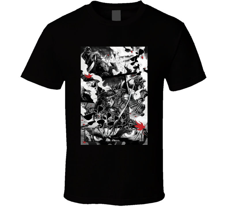 Ghost Of Tsushima Video Game Comic Art T Shirt