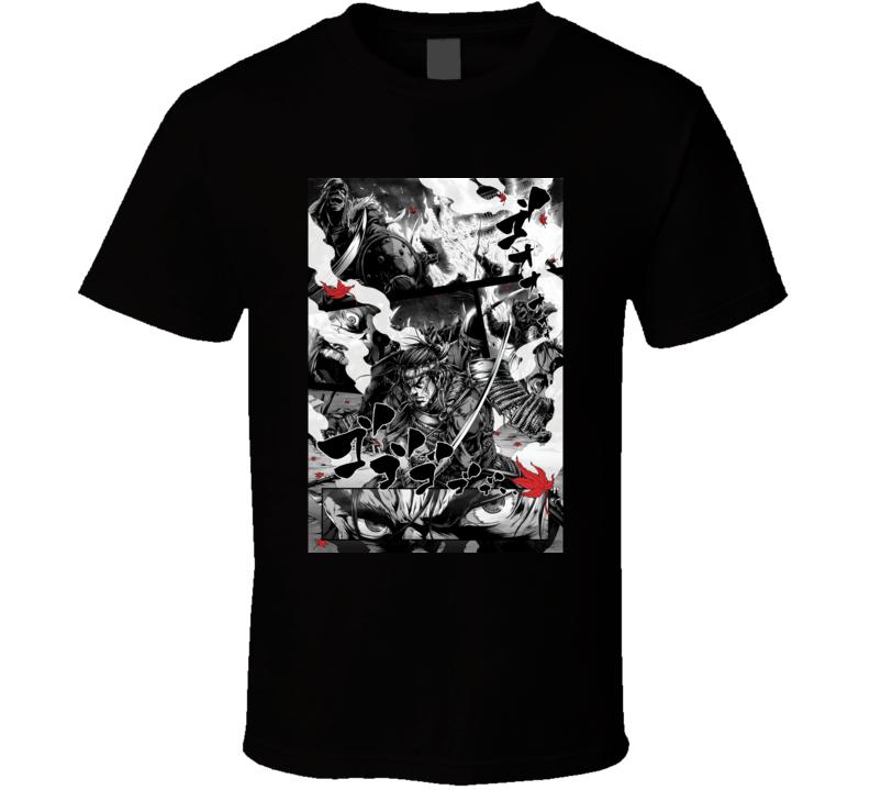 Ghost Of Tsushima Video Game Comic Art T Shirt