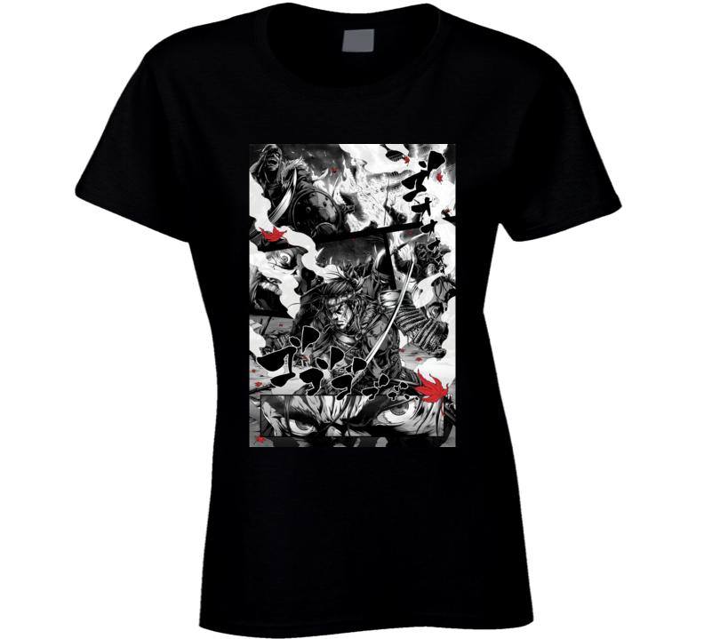 Ghost Of Tsushima Video Game Comic Art Ladies T Shirt
