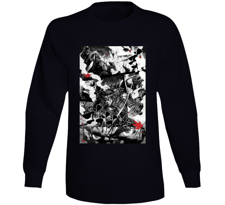 Ghost Of Tsushima Video Game Comic Art Long Sleeve T Shirt