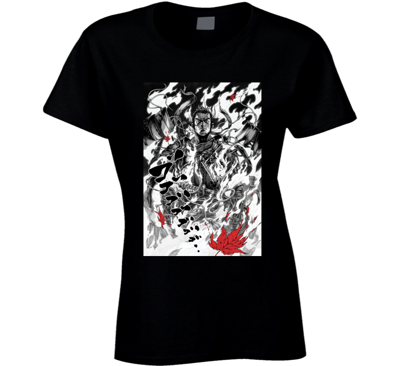 Ghost Of Tsushima Video Game Comic Art Page Ladies T Shirt