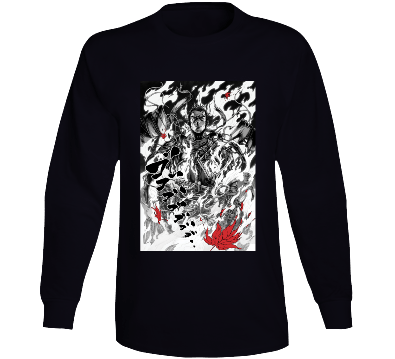 Ghost Of Tsushima Video Game Comic Art Page Long Sleeve T Shirt