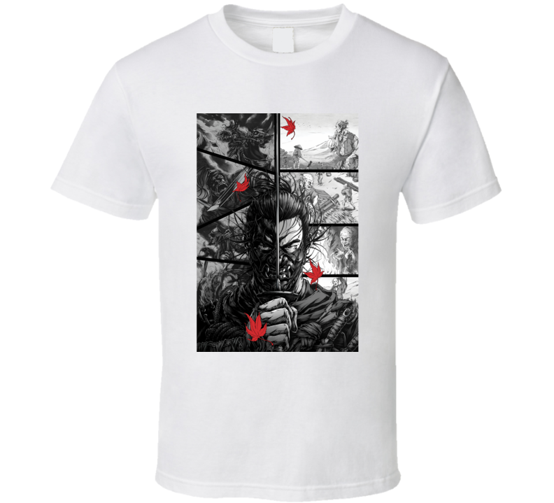 Ghost Of Tsushima Video Game Comic Page Art T Shirt