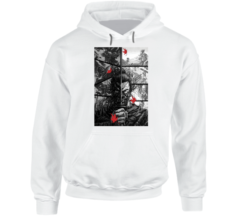 Ghost Of Tsushima Video Game Comic Page Art Hoodie