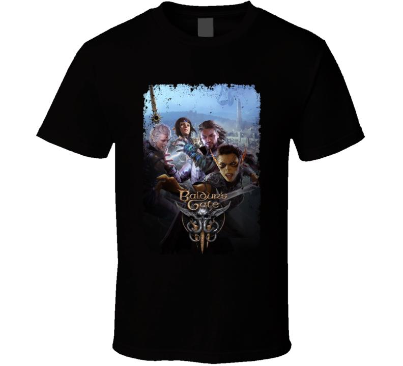Baldurs Gate 3 Dnd Rpg Video Game Art Distressed T Shirt