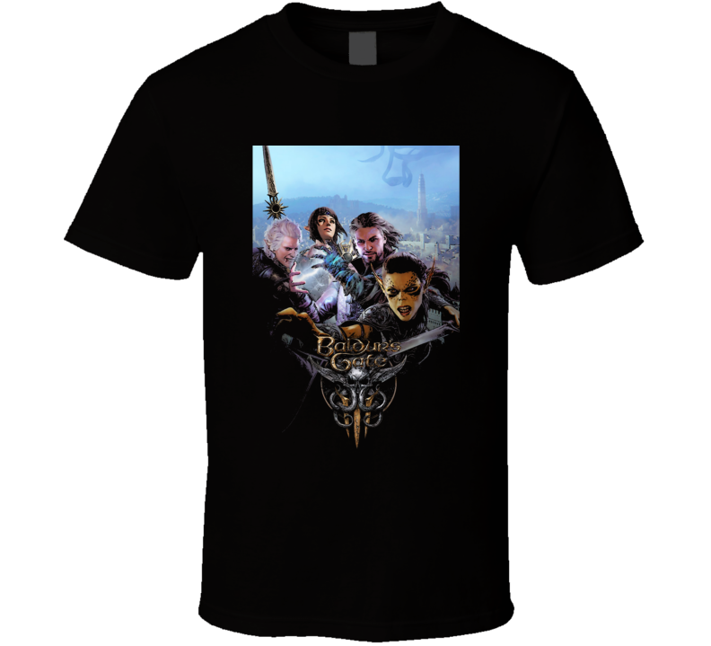 Baldurs Gate 3 Dnd Rpg Video Game Art Black T Shirt