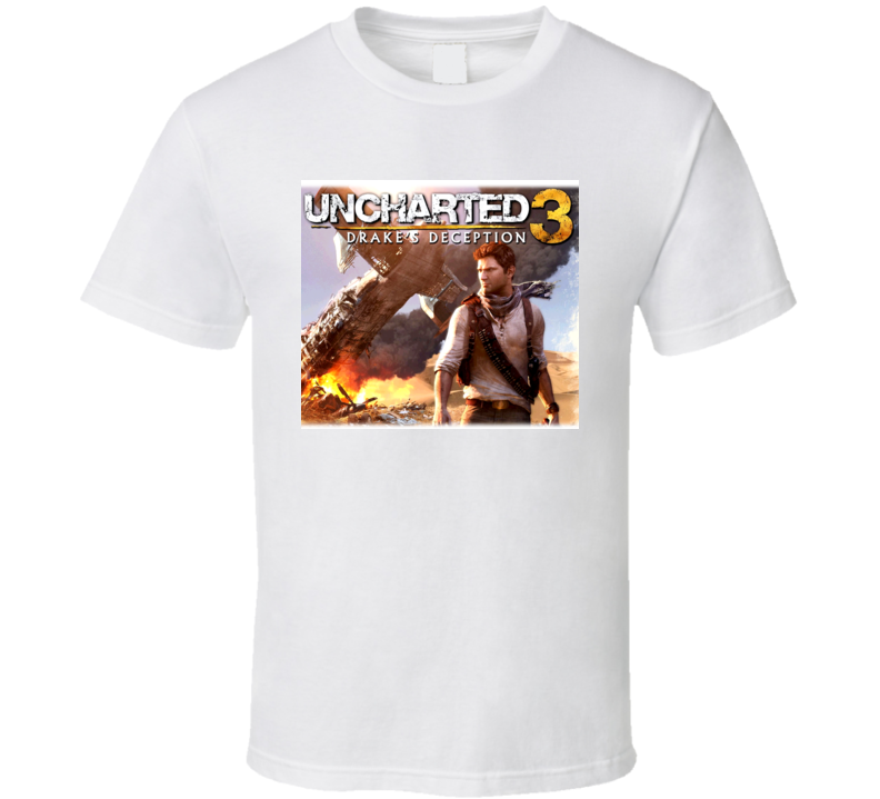 Uncharted 3 Video Game Drake T Shirt
