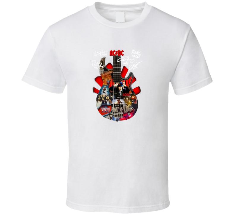 Ac Dc Guitar Signature T Shirt