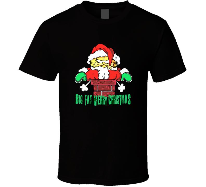 Garfield Big Fat Merry Christmas T Shirt
