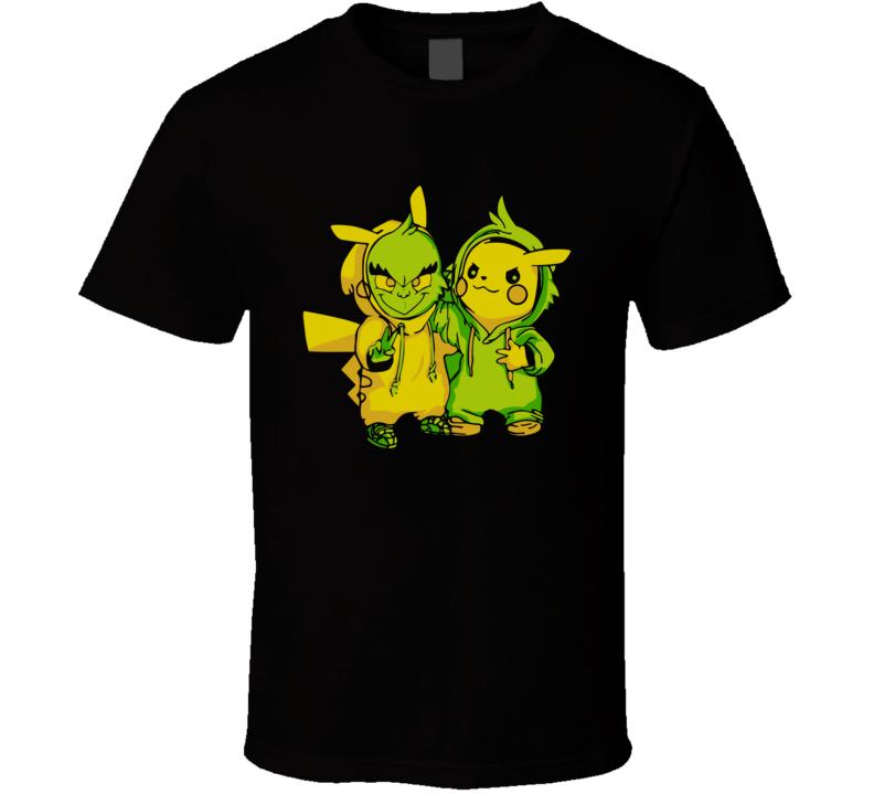 Grinch And Pikachu T Shirt