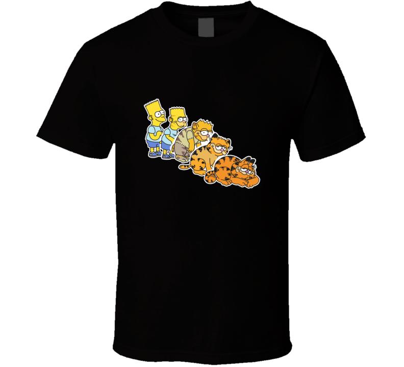 Bart Simpson And Garfield T Shirt
