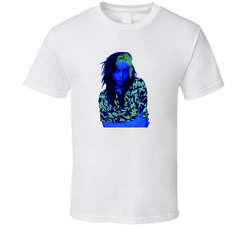 Billie Eilish Neon Portrait T Shirt