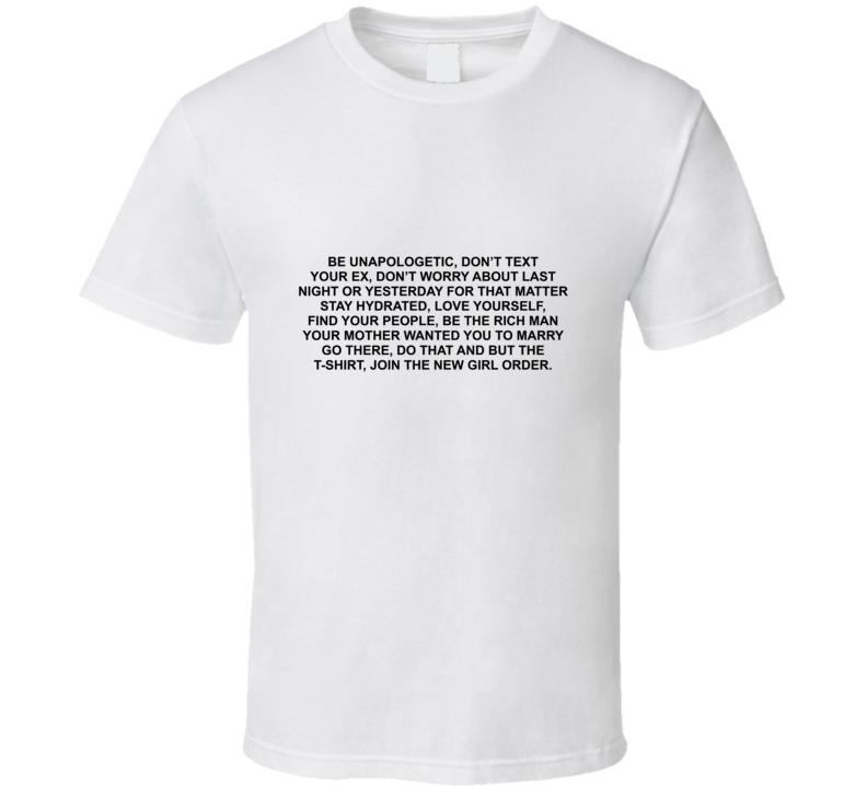 New Girl Order 02 Back T Shirt