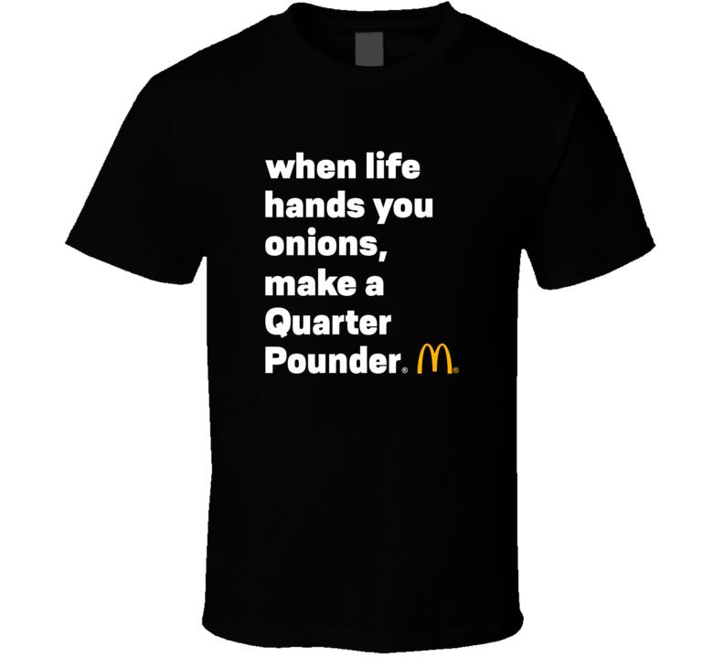 Mcdonalds Quarter Pounder T Shirt