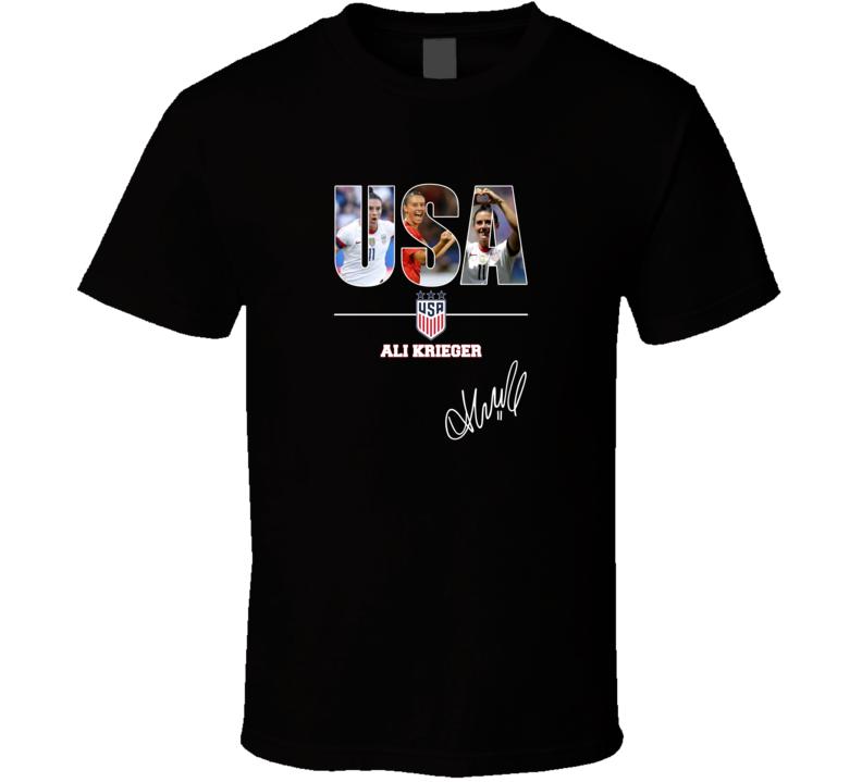 Usa Women's Soccer Ali Krieger Signature T Shirt