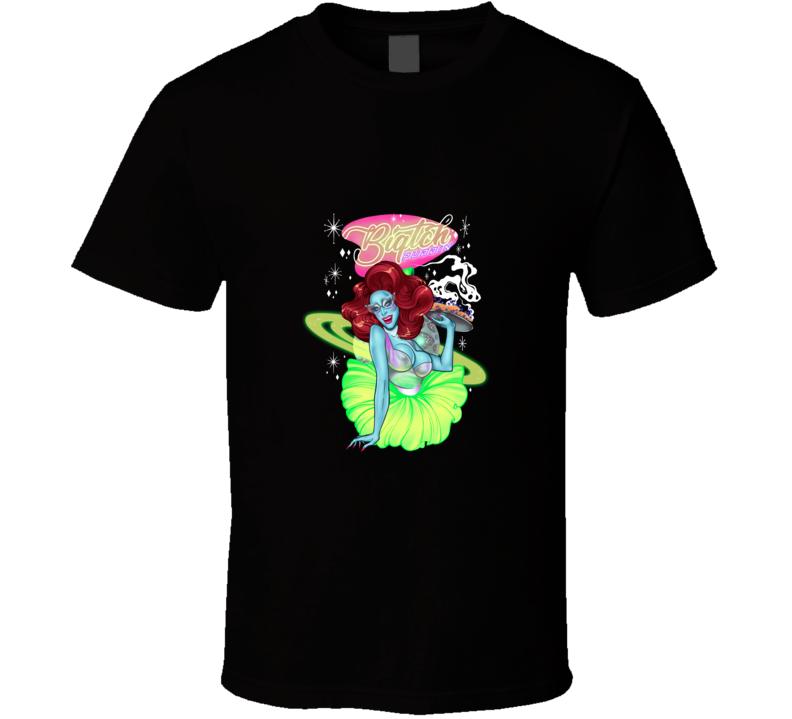 Biqtch Puddin Alien Waitress T Shirt