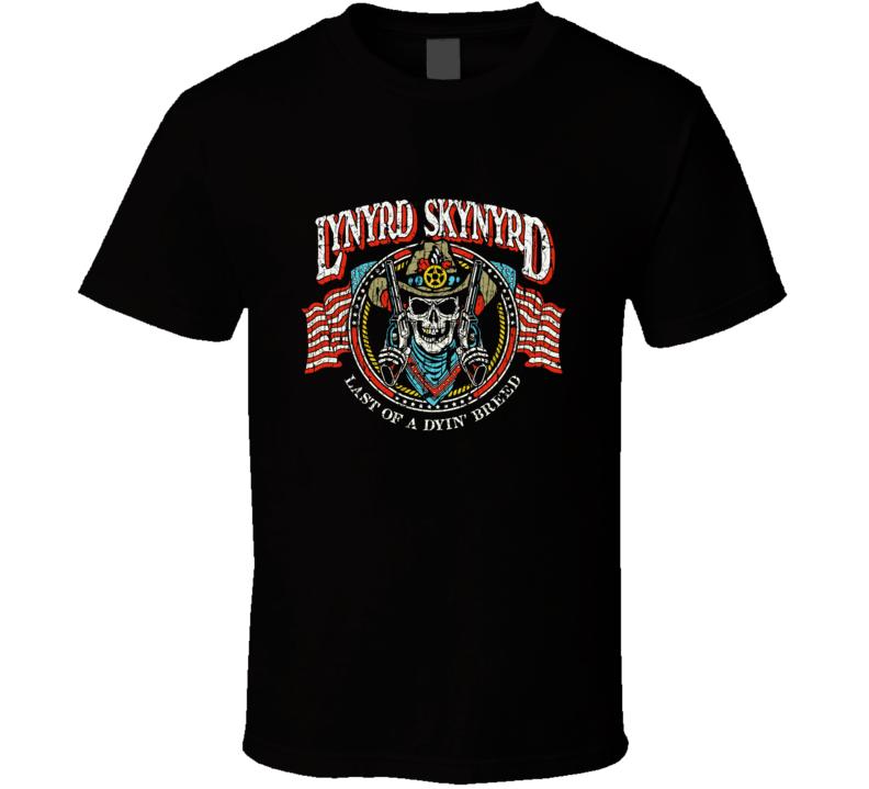 Lynyrd Skynyrd Gun Skull  T Shirt