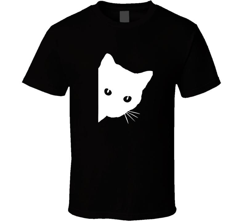 Peeking Cat T Shirt