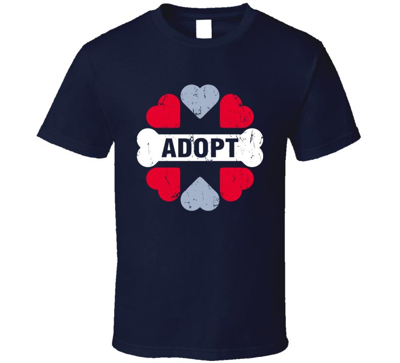 Animal Adopt Hearts And Bone T Shirt