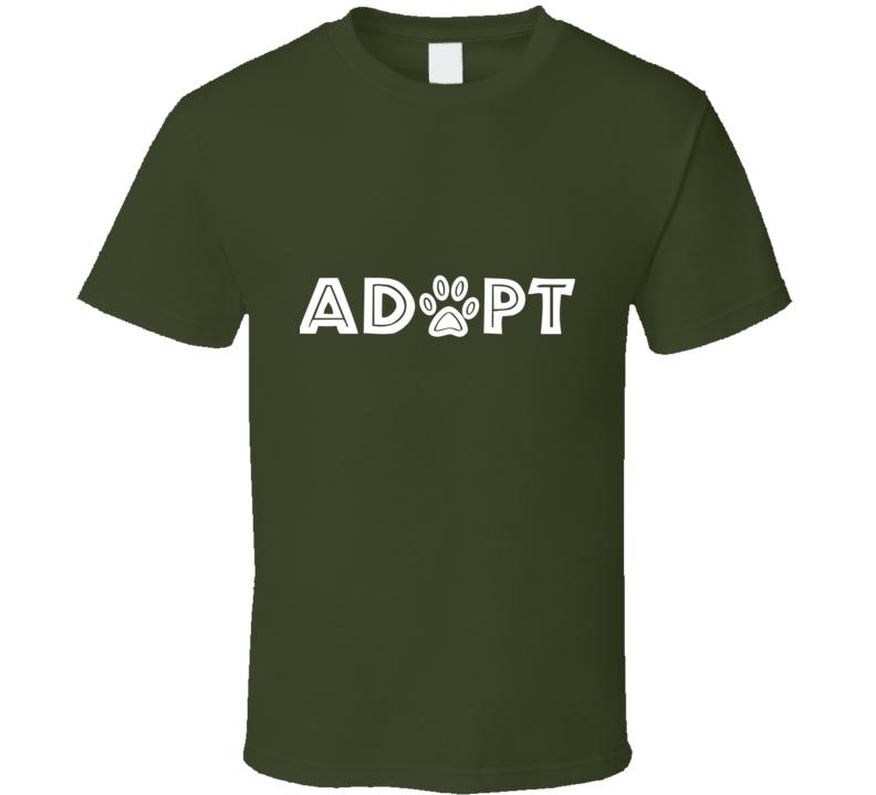 Adopt Paw T Shirt