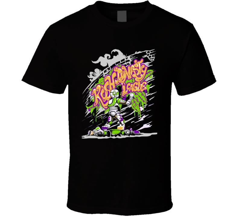 kush-dynasty-league-grafitti-robot T Shirt