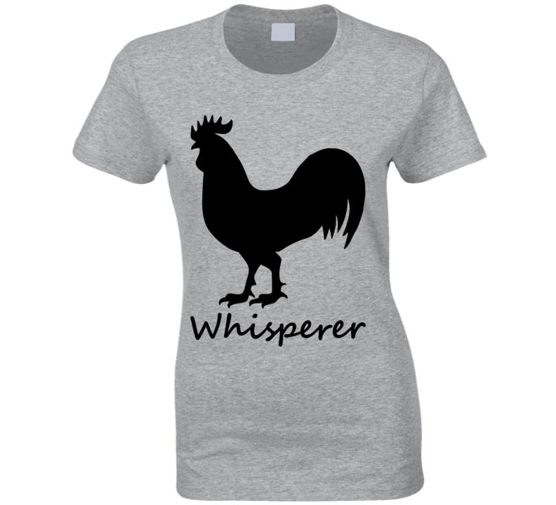 Bird Cock Whisperer Silhouette Funny T Shirt