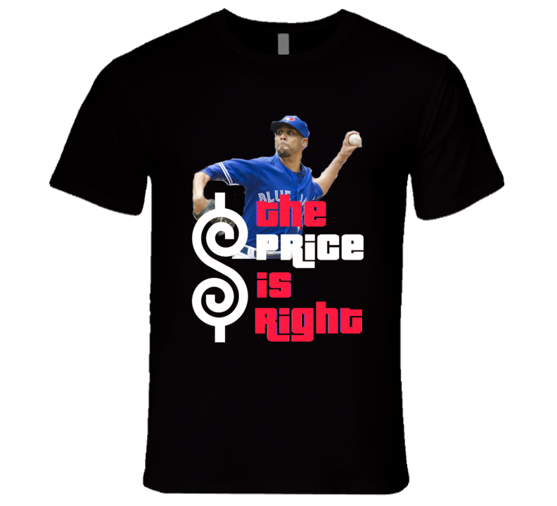 David Price The Price Is Right Toronto Baseball T Shirt