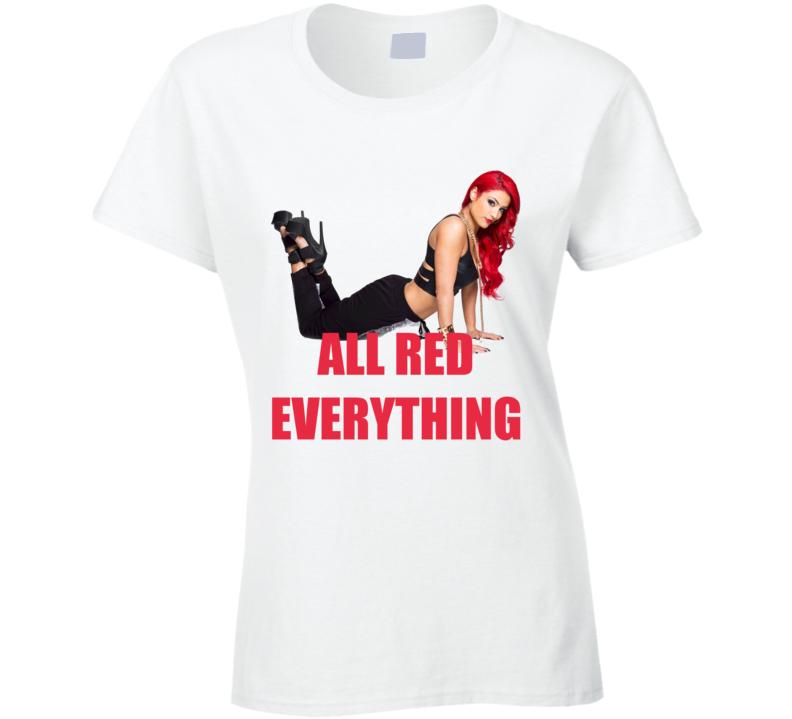 Eva Marie All Red Everything WWE Total Divas Diva Wrestling T Shirt