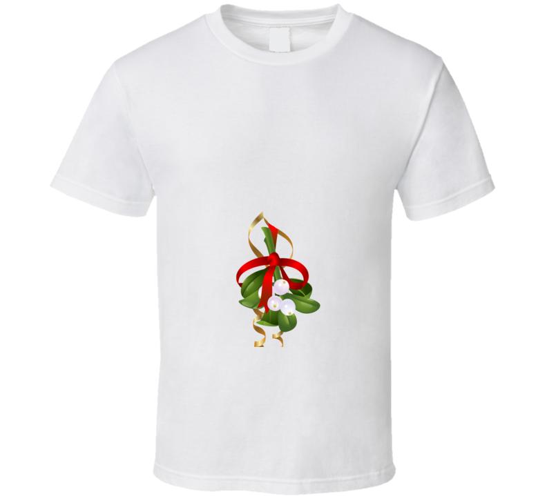 Funny Down Low Mistletoe Kiss Below The Belt Ugly Christmas Sweater T Short