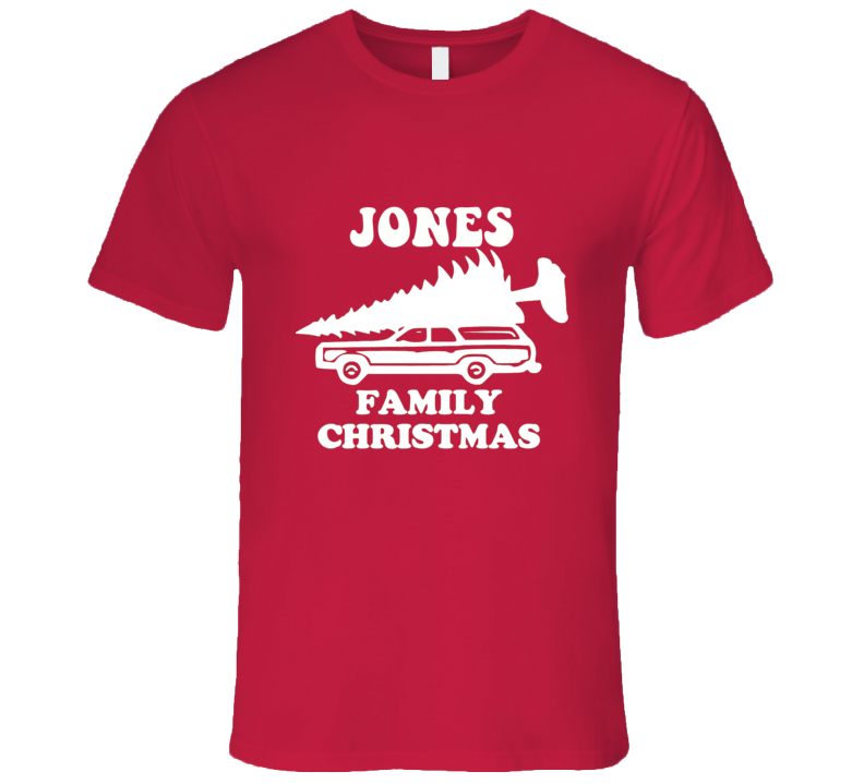 JONES Family Christmas Griswold Funny Car With Tree Ugly Christmas Sweater T Shirt