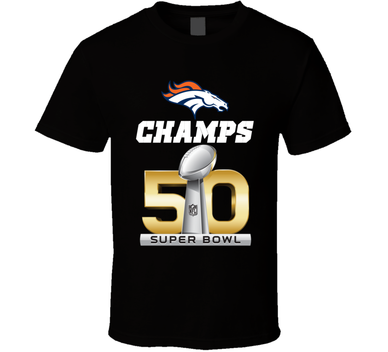 Denver Football Super Bowl 50 2016 Champs Champions Sunday Official Geestees T Shirt