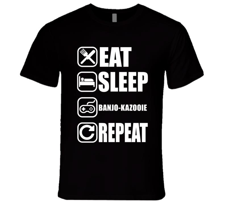 BANJO-KAZOOIE Eat Sleep Repeat Video Game Gamer Gaming Nerd T Shirt