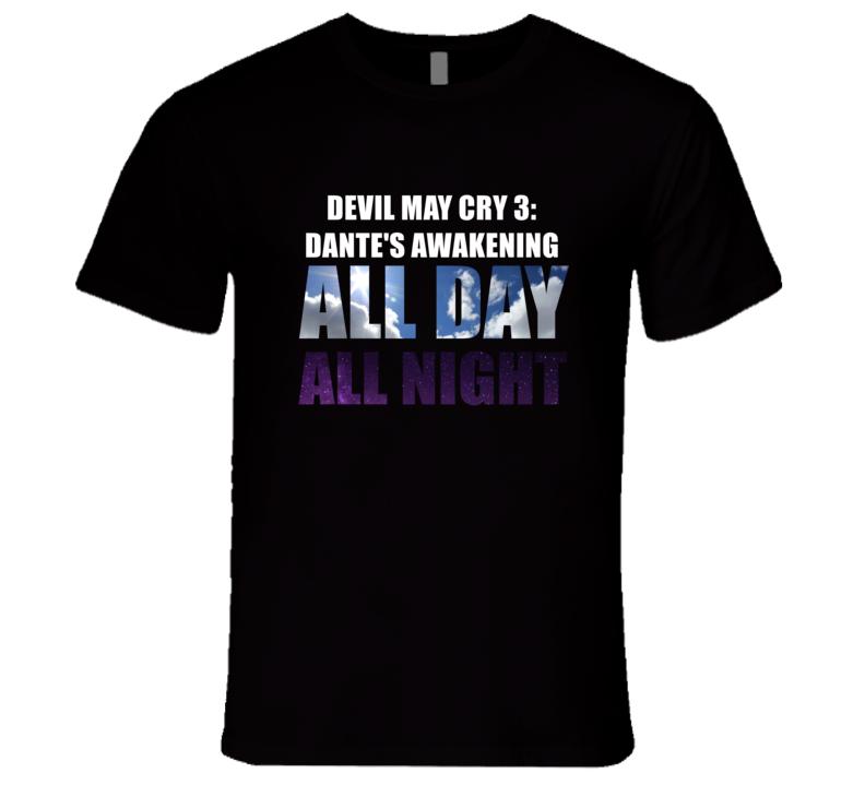 DEVIL MAY CRY 3: DANTE'S AWAKENING Eat Sleep Repeat Video Game Gamer Gaming Nerd T Shirt