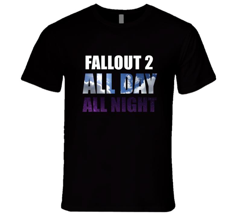FALLOUT 2 Eat Sleep Repeat Video Game Gamer Gaming Nerd T Shirt