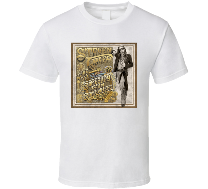 Steven Tyler We're All Somebody From Somewhere Country Music New Album Fan Rolling Stones T Shirt