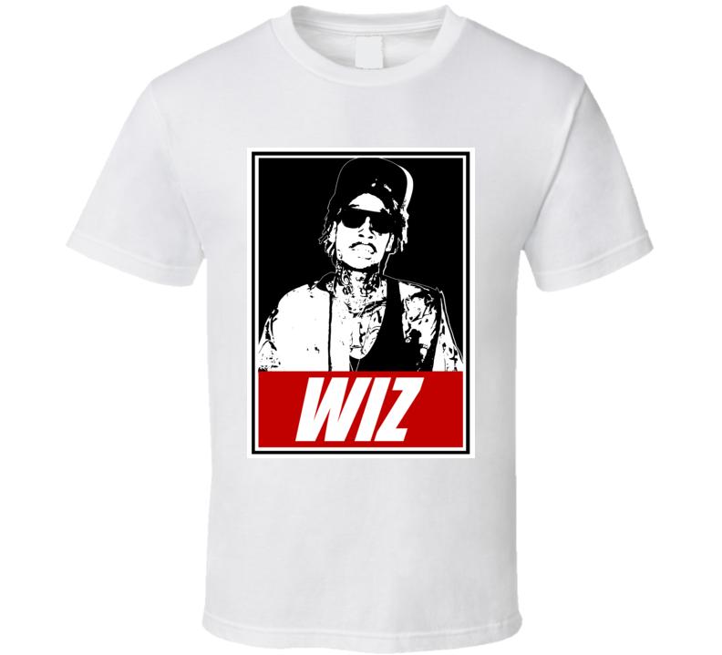 Wiz Khalifa Rap Hip Hop Fan Rapper Obey Art T Shirt