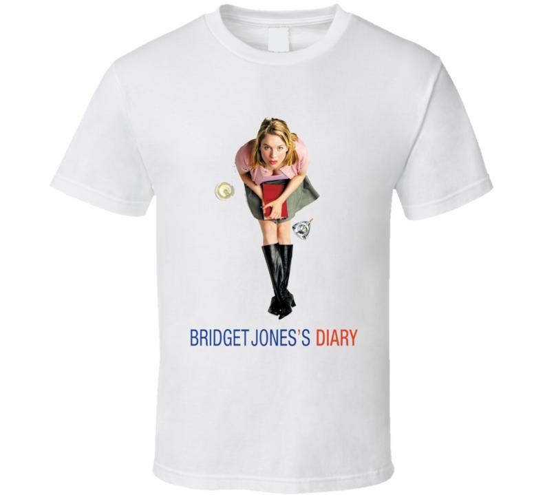 Bridget Jones Diary Joness 2001 Original Renee Zelleger Fan T Shirt