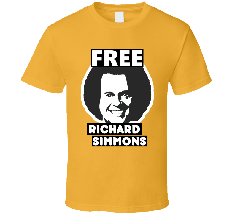 Free Richard Simmons Missing Podcast T Shirt