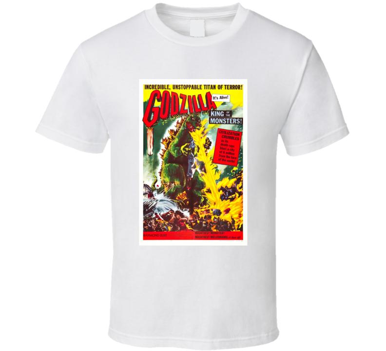 Godzilla Original Poster Netflix Anime Movie T Shirt