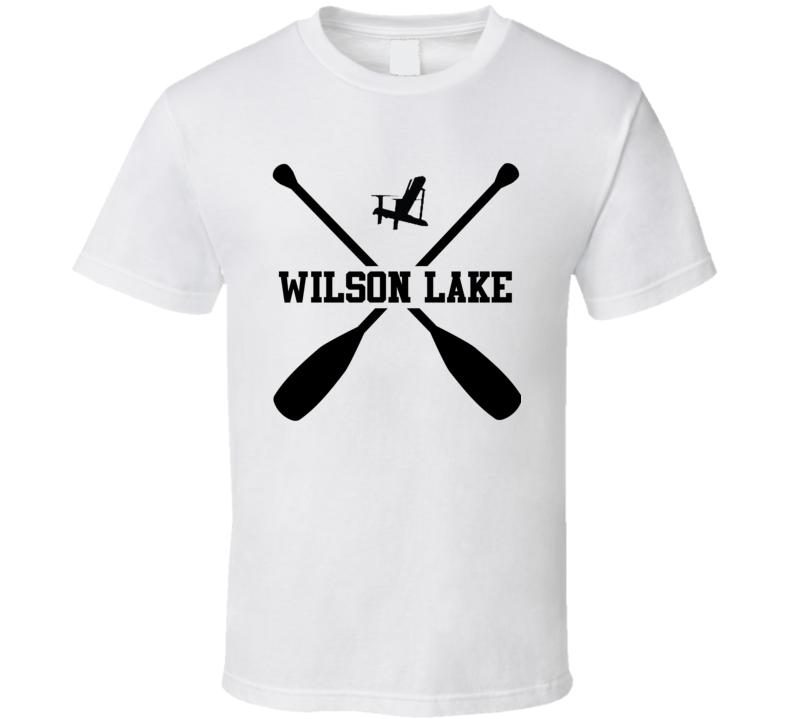 WILSON LAKE Cottage Muskoka Adirondack Chair T Shirt