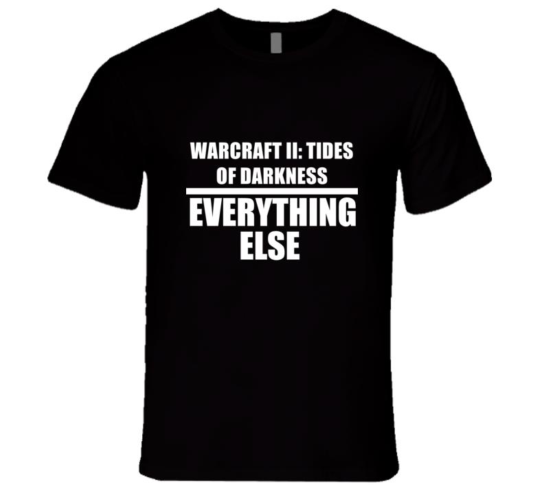 WARCRAFT II: TIDES OF DARKNESS Eat Sleep Repeat Video Game Gamer Gaming Nerd T Shirt
