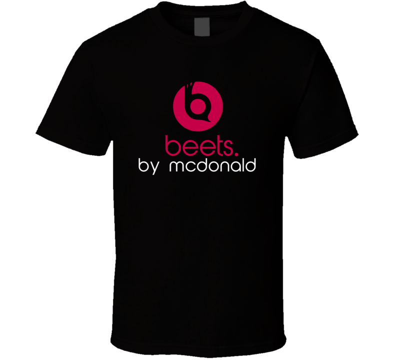 Beets By Mcdonald Funny Beats Headphone Parody Tv Character Fan T Shirt