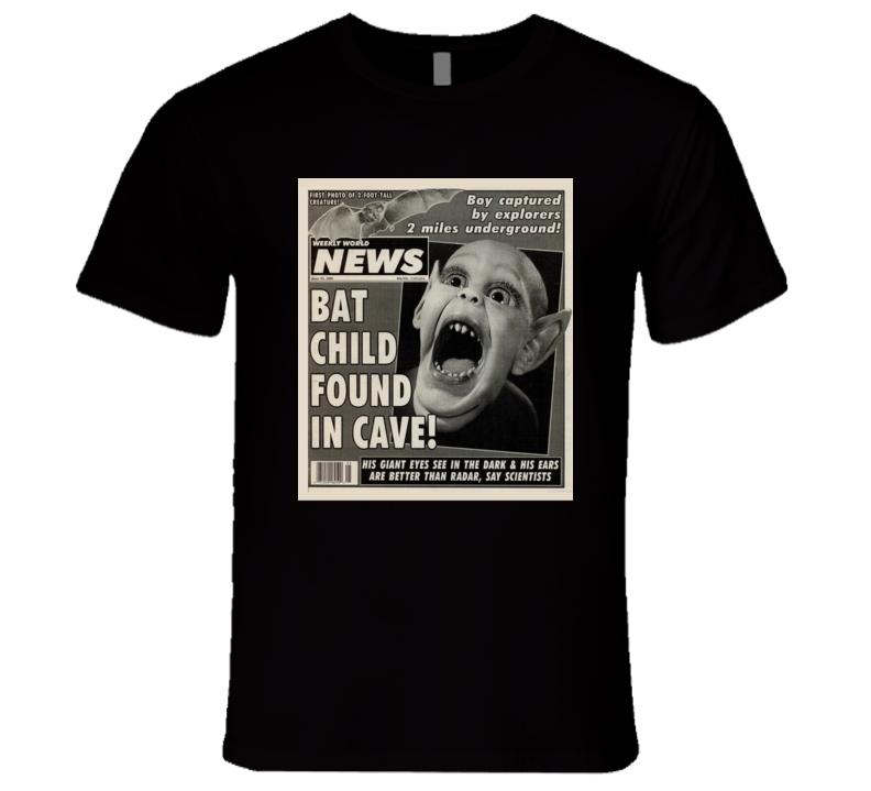 Bat Boy Weekly World News National Enquirer T Shirt